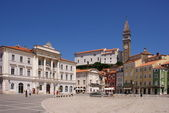 Piran, Tartini square — Stock Photo