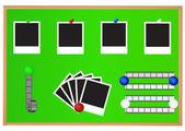 Photo Push-pins — Stock Vector
