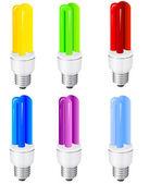 Energiebesparende lampen — Stockvector
