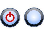 Power-knappen — Stockvektor