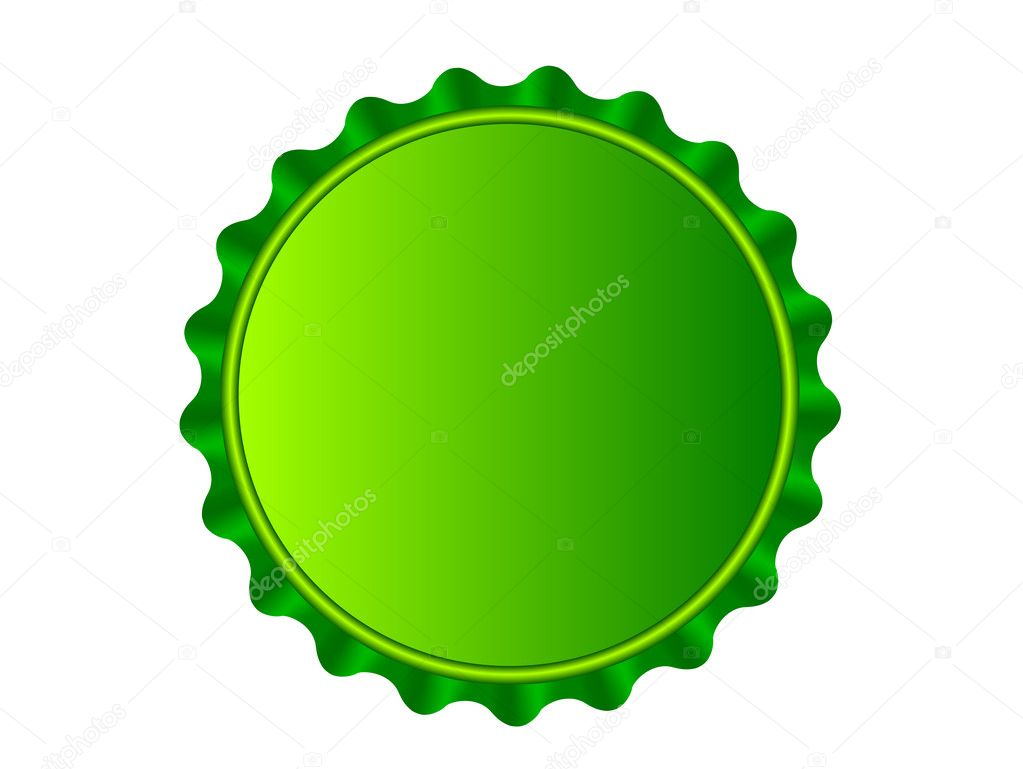 Illustration of the bottlecap isolated over white background — Stock Vector #3562861