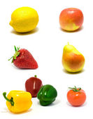 Set of vegetables and fruits — Stock Photo