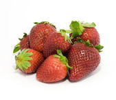Strawberries isolated on white — Stock Photo