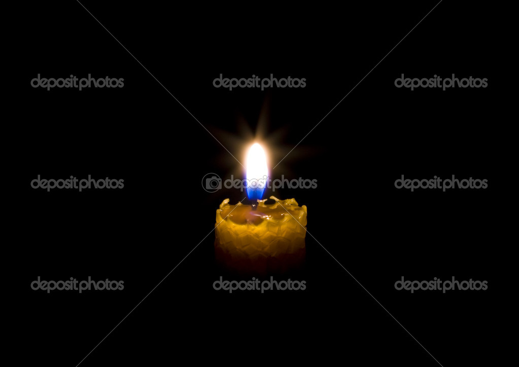 Candle in darkness  Foto Stock #3302214