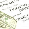 Dollars and crisis - Stock Photo