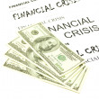 Dollars and crisis — Stock Photo