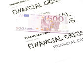 Euro and crisis — Stock Photo