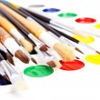 Brushes and paints — Stock Photo #3263779