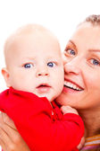 Portrait of mother and baby — Stock Photo