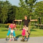 Weekend in roller skates — Stock Photo
