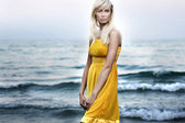 Attractive young woman. Lots of copy space — Stock Photo