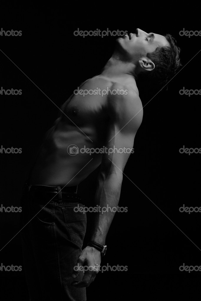 Emotive portrait of a young male model — Stock Photo #3357385