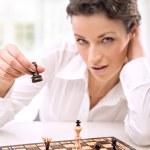 チェスをする若い実業家 — ストック写真
