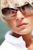 Portrait of beautiful sexy woman in sunglasses — Stock Photo