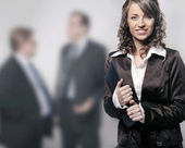 A portrait of a young professional businesswoman — Stock Photo