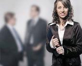 Un retrato de una joven empresaria profesional — Foto de Stock