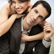Foto Stock: Stock Photo: happy wedding couple