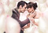 Romantiskt bröllopsbild — Stockfoto