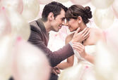 Romantic wedding picture — Stock Photo