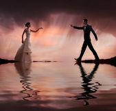 Beeldende kunst stijl bruiloft foto — Stockfoto