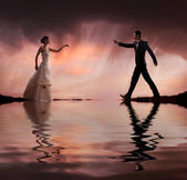Fine art style wedding photo — Stock Photo