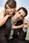 Stock Photo: happy wedding couple — Stock Photo