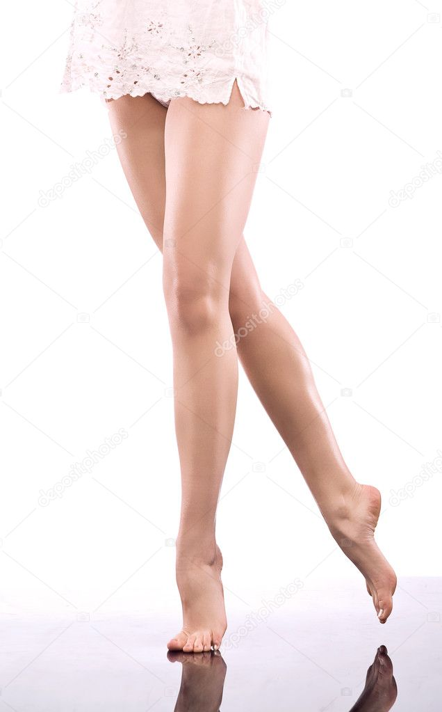 Smooth female legs  — Stockfoto #4288103
