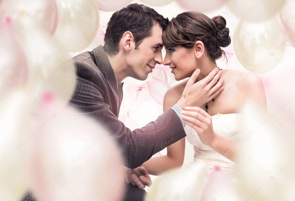 Romantic wedding picture  — Stockfoto #4288110