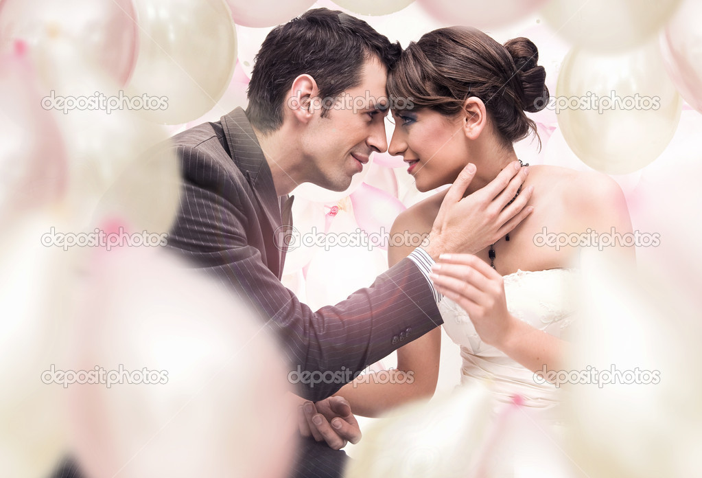Romantic wedding picture  — Lizenzfreies Foto #4288110