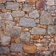 Real wall made of stones — Stockfoto