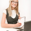Stock Photo: Young secretary