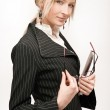 Young blonde businesswoman — Stock Photo