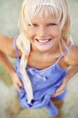 Smiling little girl — Stock Photo