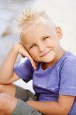 Young boy's summer fun — Stock Photo