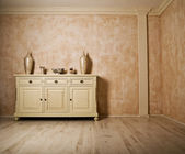 Minimalism designed beige room — Stock Photo