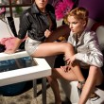 Vogue style photo of two beauty women — Stock Photo