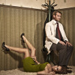 Vogue style photo of an attractive couple — Foto de stock #4308326