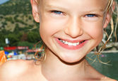Young girl on sunny vacation day — Stock Photo