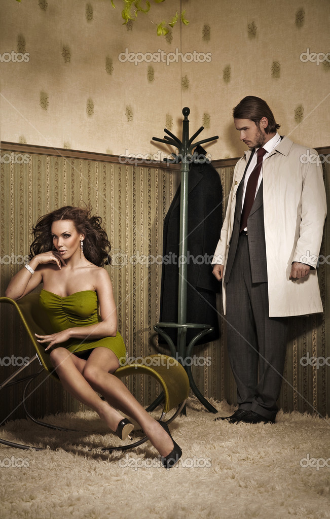 Vogue style photo of an attractive couple   Foto Stock #4308317
