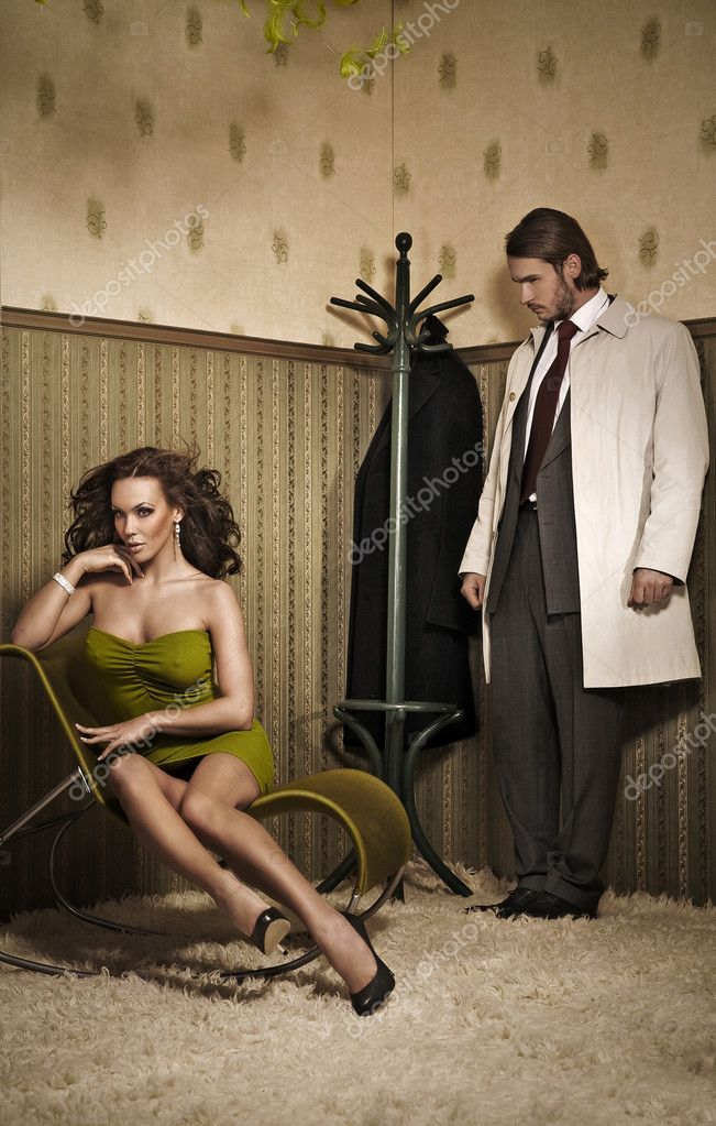 Vogue style photo of an attractive couple   Foto de Stock   #4308317
