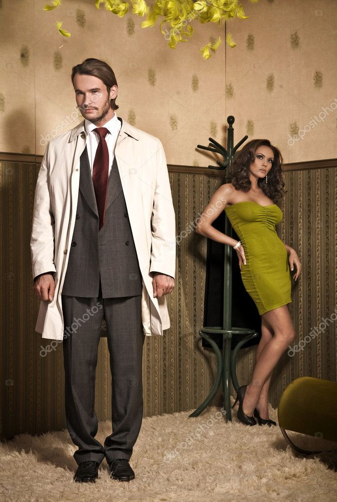 Vogue style photo of an attractive couple  — Stock Photo #4308321