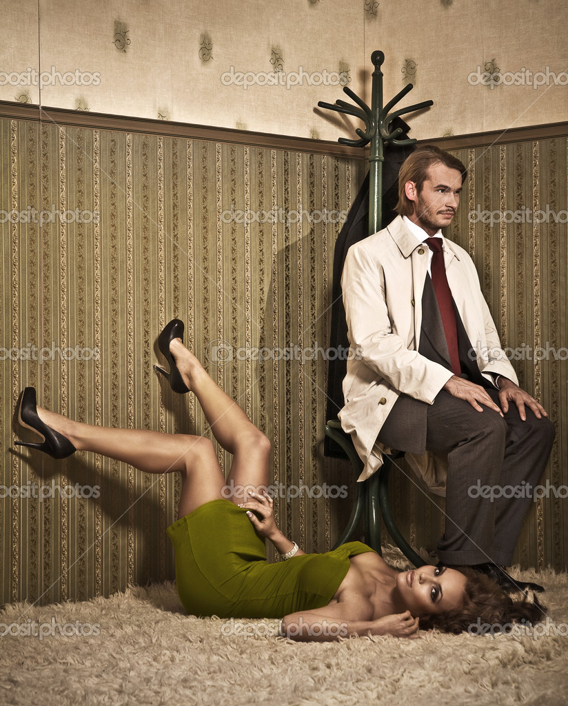 Vogue style photo of an attractive couple   Stock Photo #4308326