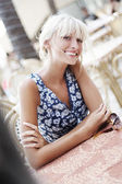 Smiling blond beauty — Stock Photo