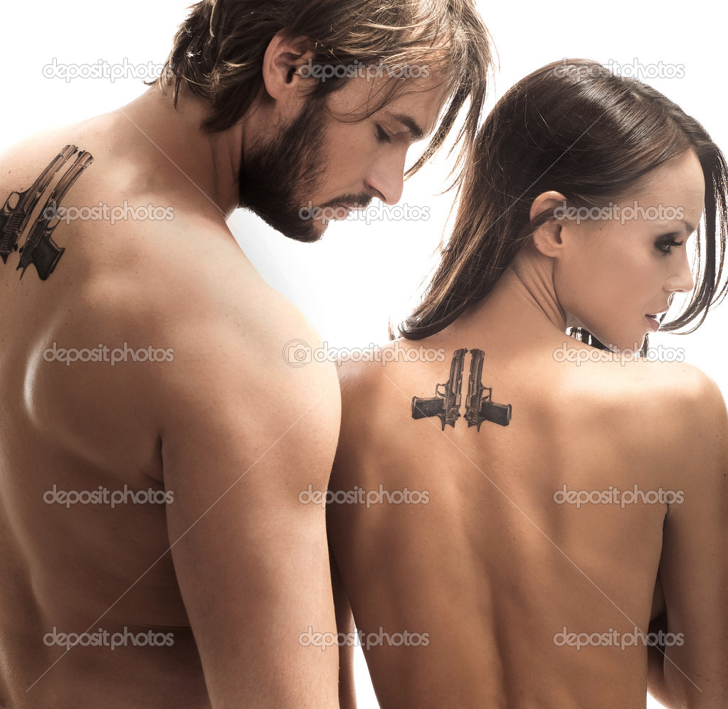 Fashion style photo of an attractive couple   Stock Photo #4468344