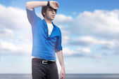 Handsome young man posing — Stock Photo
