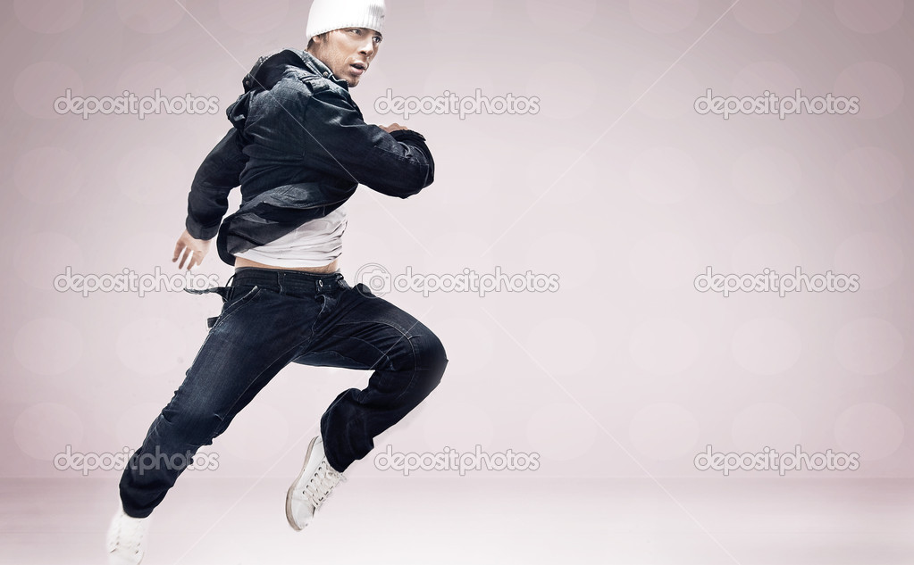 Abstract studio photo of  hip hop dancer — Stock Photo #4489768