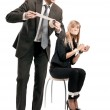 Symbolic photo of relationships in business team — Stock Photo