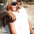 Couple of young having fun on a vacation day — Stock Photo