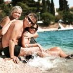 Happy family on vacation day — Stock Photo