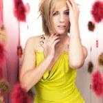 Romantic blonde beauty — Stock Photo
